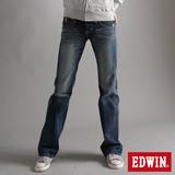 EDWIN BLUE TRIP寬直筒牛仔褲-女-拔洗藍