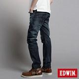 EDWIN W-F EF迷彩窄直筒保溫褲-男-中古藍