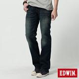 EDWIN 503B.T麂皮直筒牛仔褲-男-中古藍