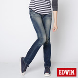 EDWIN MISS NEW503小直筒牛仔褲-女-中古藍