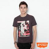 5th STREET 時代廣場印花T恤-男-灰咖啡