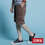 EDWIN KHAKI貼袋馬褲-男-咖啡色