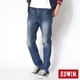 EDWIN 503迦績褲 JERSEYS立體剪裁3D針織牛仔褲-男-石洗綠