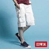 EDWIN KHAKI貼袋馬褲-男-白色