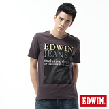 EDWIN LOGO鐵塔短袖T恤-男-暗灰 M