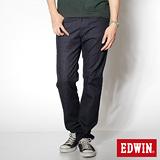 EDWIN 大尺碼 基本五袋高腰直筒褲-男-原藍色
