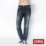 EDWIN 503 B.T袋蓋直筒牛仔褲-男-原藍磨