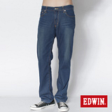 EDWIN 503 COOL RELAX天絲棉中直筒牛仔褲-男-石洗藍