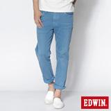EDWIN 503 NARROW後染中直筒休閒色褲-男-藍色