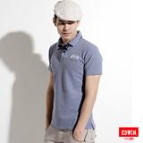 EDWIN 後染基本POLO衫-男-丈青色