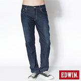 EDWIN 大尺碼 503 COOL RELAX天絲棉直筒褲-男款(中古藍)