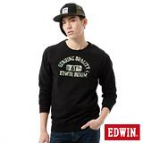 EDWIN 61迷彩印花長袖T恤-男-黑色