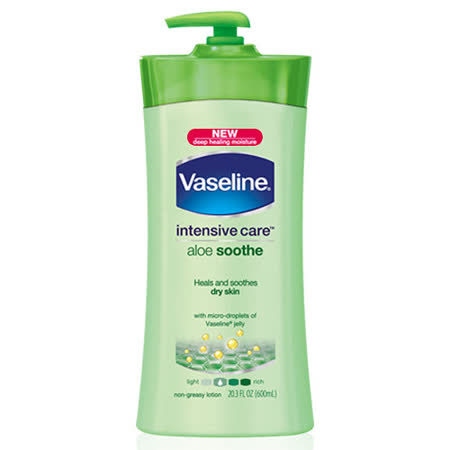 Vaseline凡士林潤膚乳液 (600ml)-蘆薈滋養(綠瓶) -friDay購物 x GoHappy