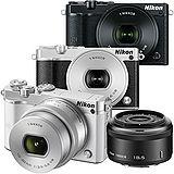 Nikon 1 J5 10-30mm + 18.5mm 雙鏡組(公司貨)-加送64G卡+專用電池X2+防潮箱+大吹球清潔組+拭鏡筆+保護鏡+水晶UV保護鏡(保護鏡頭防止刮傷)+專用相機包