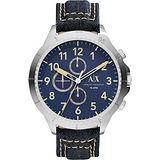 A│X Armani Exchange Romulous 牛仔計時錶-藍/50mm AX1756