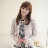 日本Portcros 現貨-亮麗動人球球亮片抓褶外套(紅色/M)