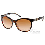 BURBERRY太陽眼鏡 格紋時尚貓眼款(深邃琥珀) #BU4199F 300213