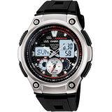 CASIO  極速快感計時賽車腕錶-紅X黑