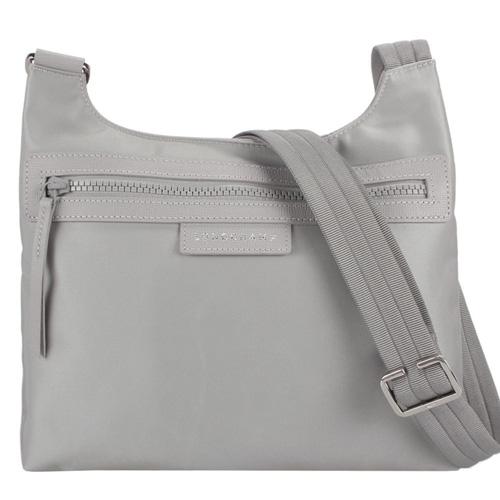 Longchamp Le Pliage Neo尼龍斜背郵差包-灰色