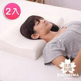 【日本濱川佐櫻-簡約時尚】A級工學型天然Q彈乳膠枕-2入