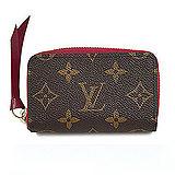 Louis Vuitton LV M61299 ZIPPY 經典花紋信用卡零錢包.紫紅 預購