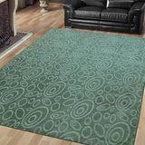 范登伯格 星雲★夢想圈圈加厚加柔地毯-綠150x200