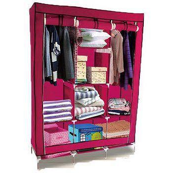超大三排加寬加高 8格簡易防塵衣櫃 130*45*175