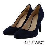 NINE WEST--氣質優雅 柔軟皮革高跟鞋--百搭藍