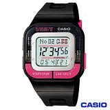 CASIO卡西歐 女性運動風慢跑專用數位電子錶 SDB-100-1B