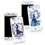 【Disney 】iPhone 6 plus 強化玻璃彩繪保護貼-公主