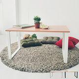 《舒適屋》方型設計工業風大茶几/和室桌(2色可選)