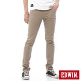 EDWIN EDGE涼感COOL窄直筒牛仔褲-男-淺卡其