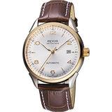 epos 午夜巴黎 奧斯卡復古機械腕錶-銀x玫瑰金框/40mm 3427.130.34.58.77FB