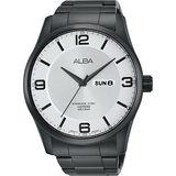 ALBA Prestige 街頭酷流行腕錶-銀白x鍍黑/45mm VJ43-X028SD(AV3341X1)