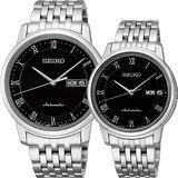 SEIKO Presage 羅馬機械對錶-黑/40+34mm 4R36-04F0D+4R36-04E0D(SRP885J1+SRP697J1)