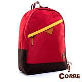 CORRE - 自我風格大容量款MIT尼龍後背包-搶眼紅