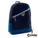 CORRE - 自我風格大容量款MIT尼龍後背包-爵士藍