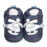 英國 shooshoos 健康無毒真皮手工鞋/學步鞋/嬰兒鞋 海軍藍/銀白直升機 #BNV45(公司貨)
