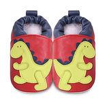 英國 shooshoos 安全無毒真皮手工鞋/學步鞋/嬰兒鞋 紅色/綠恐龍(公司貨)