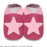 英國 shooshoos 安全無毒真皮手工鞋/學步鞋/嬰兒鞋 桃紅大星星(公司貨)
