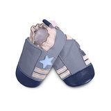 英國 shooshoos 安全無毒真皮手工鞋/學步鞋/嬰兒鞋 藍色小星星(公司貨)