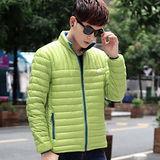 【STONEY.AX】9010白鴨羽絨韓版輕薄修身保暖男外套-綠色