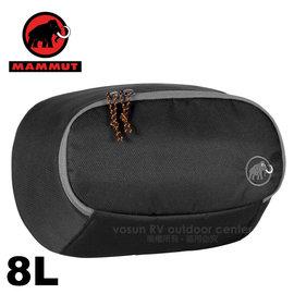 【瑞士 MAMMUT 長毛象】Add-on Pocket 8L 防潑水多功能增加外袋( 附腰帶 可當腰包)外掛背包.登山 旅行.適合Osprey Deuter 00080-00013 黑