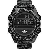 adidas 野戰遊戲冷光電子腕錶-蛇紋/48mm ADH3046