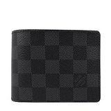 Louis Vuitton LV N63261 黑棋盤格紋多卡雙折短夾 預購