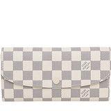 Louis Vuitton LV N63546 EMILIE 白棋盤格紋扣式零錢長夾 預購