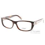 LOEWE眼鏡 別緻LOGO款(琥珀) #LW876 C09XK