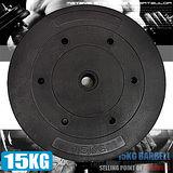 15KG水泥槓片C113-B2150 單片15公斤槓片.啞鈴片.槓鈴片.舉重量訓練.運動健身器材
