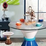 自然捲狂想曲復古圓桌-二色可選