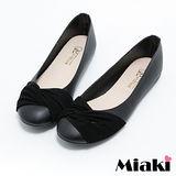 【Miaki】MIT 娃娃鞋韓劇美人平底包鞋 (黑色)